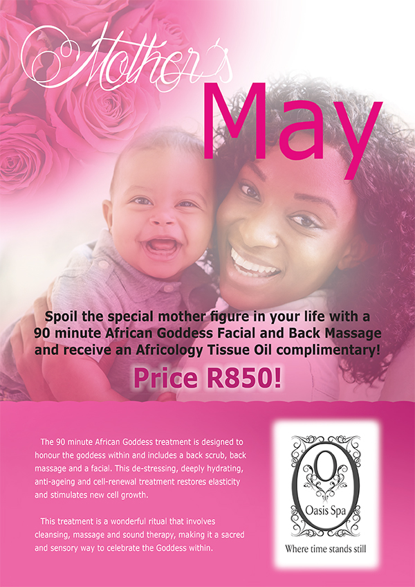 Oasis spa mothers day promotion 2016